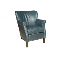 KING HICKORY Fleming Leather Chair