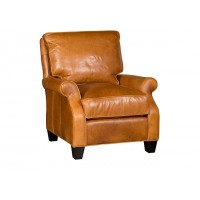 KING HICKORY Penelope Leather Chair, Penelope Ottoman