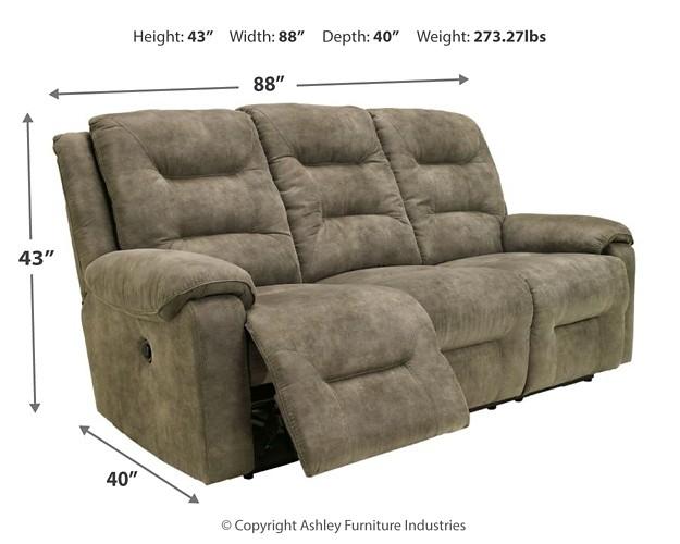 Rotation Smoke Reclining Power Sofa 9750187
