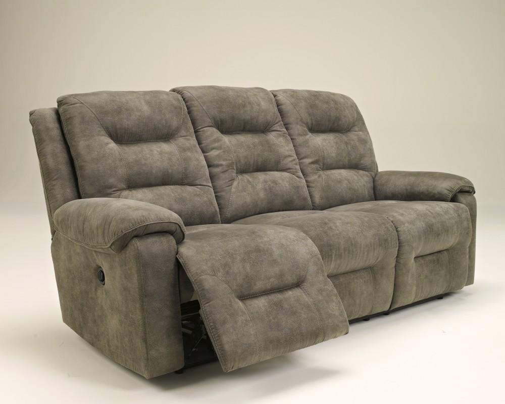 Rotation - Smoke - Reclining Sofa