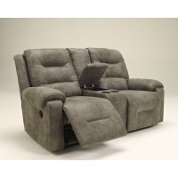 Rotation - Smoke - DBL Rec Loveseat w/Console