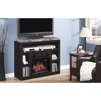 Adams Black Fireplace