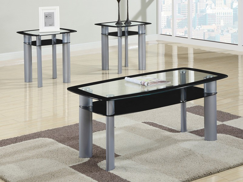 Metro Coffee Table and 2 End Tables | Metro C-E-E black | Three ...