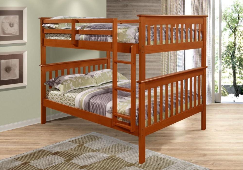 Mission Full Over Full Dark Oak Bunk Bed Set 1233doak Bunk Beds