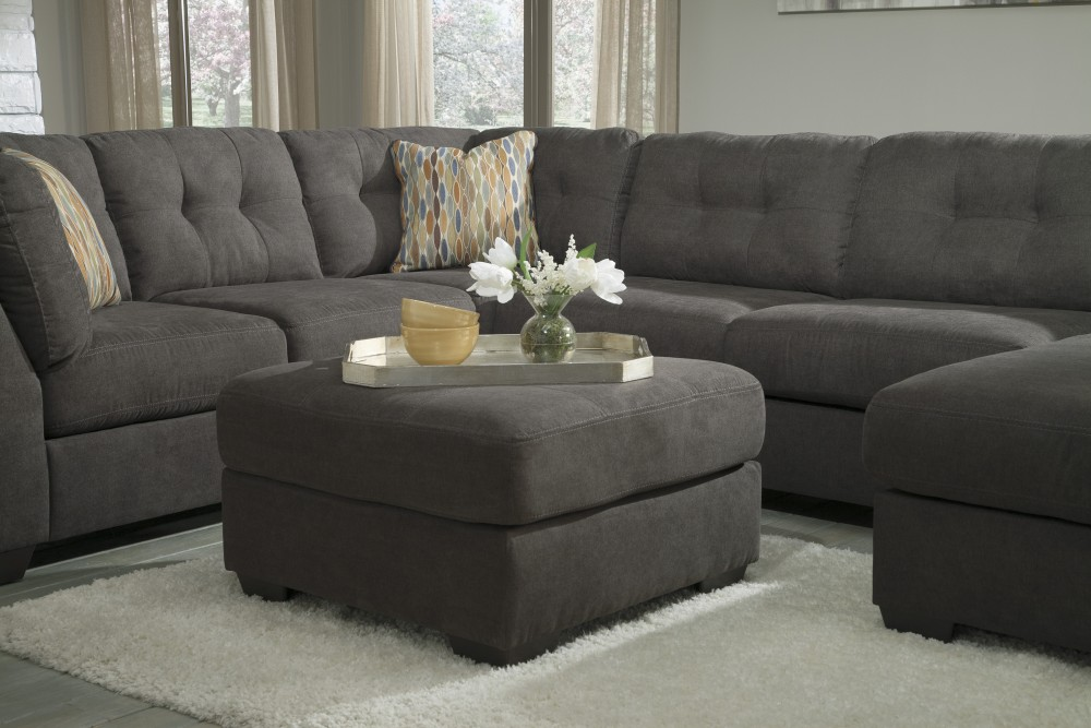Delta City - Steel - Oversized Accent Ottoman