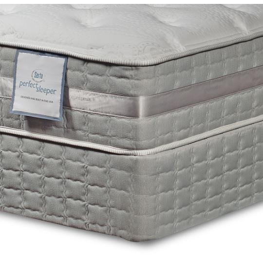 Serta Creswick Pillowsoft Queen Mattress Set