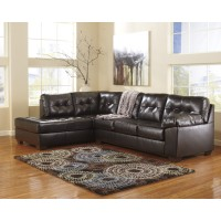 Alliston DuraBlend - Chocolate 2 Pc. LAF Chaise Sectional