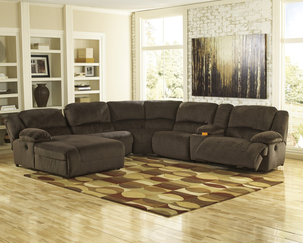 reclining woodstock power piece furniture recliner sectional dazzle