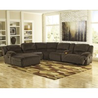 Toletta - Chocolate 6 Pc. LAF Chaise Reclining Sectional