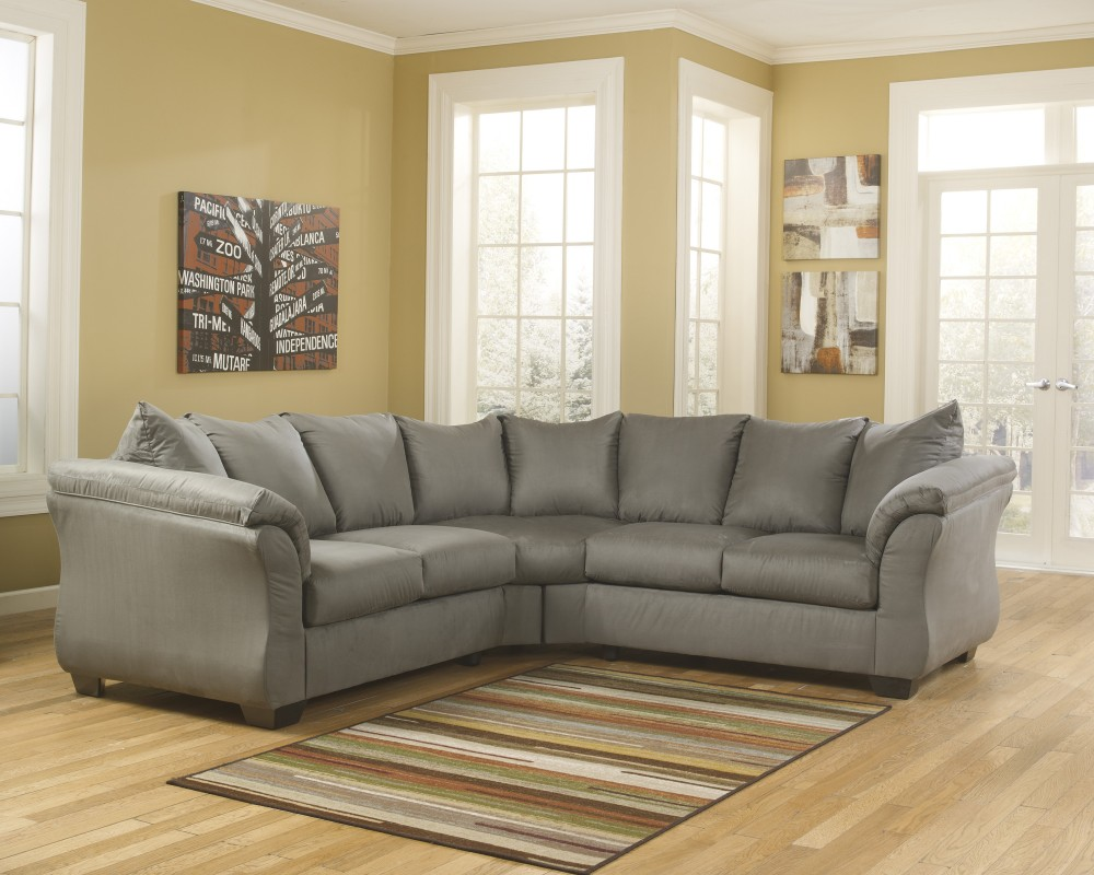 Cool Darcy Cobblestone 2 Pc Sectional Inzonedesignstudio Interior Chair Design Inzonedesignstudiocom