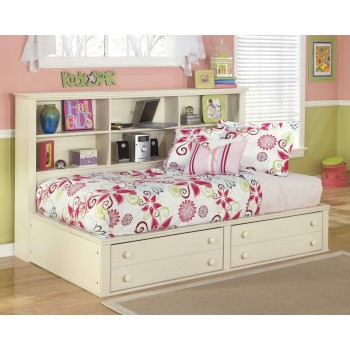 Cottage Retreat Twin Bookcase Bed with Storage