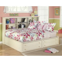 Cottage Retreat Full Bookcase Bed with Storage
