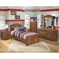 Barchan Twin Bed, Dresser & Mirror