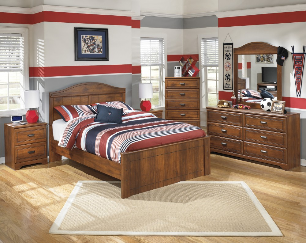Barchan Full Bed, Dresser & Mirror