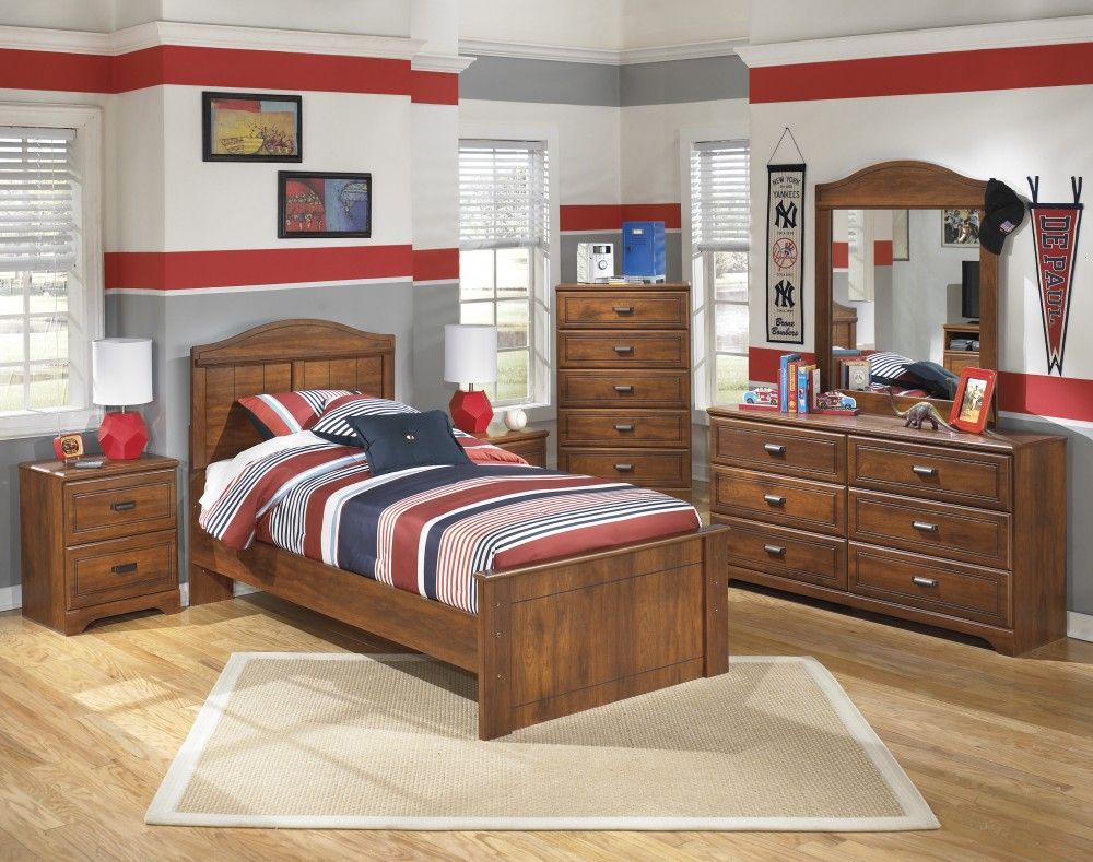 Barchan Twin Headboard, Dresser & Mirror