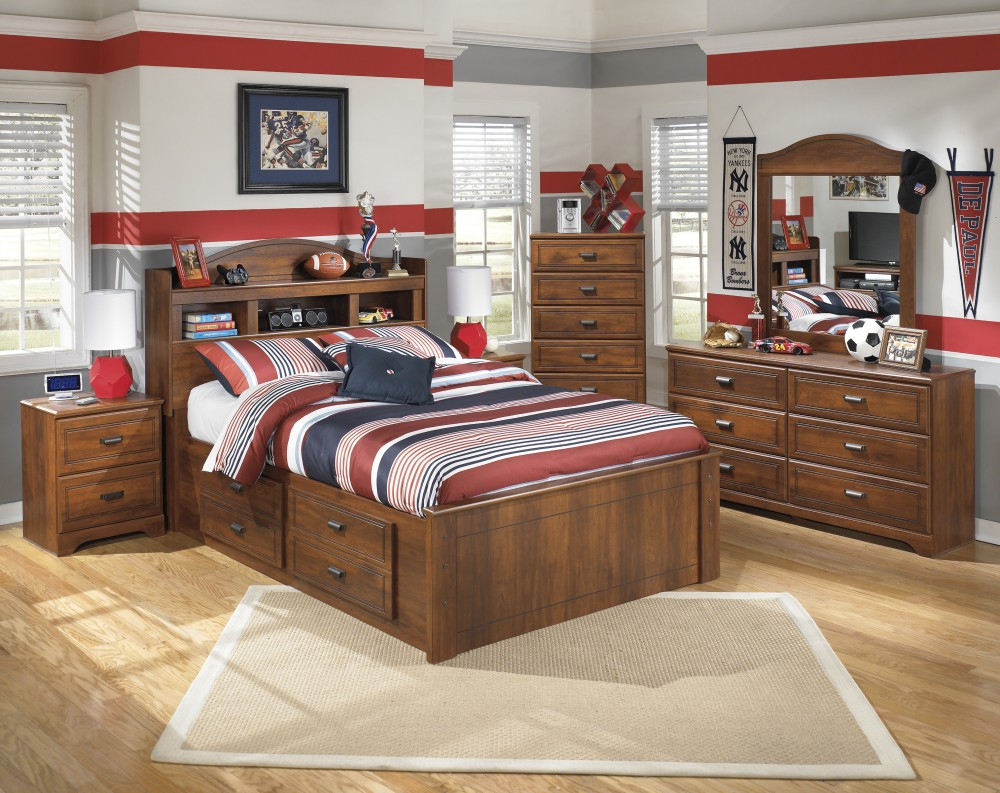 Barchan Full Headboard, Dresser & Mirror