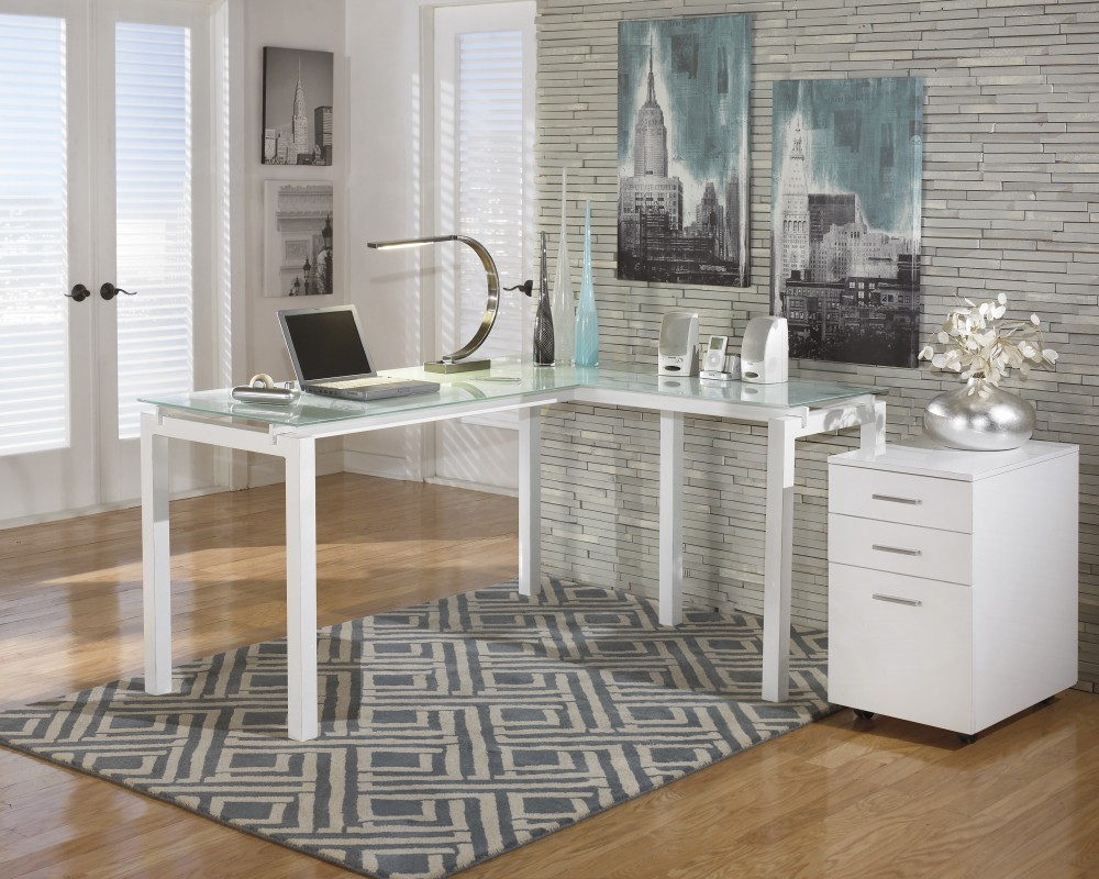 Baraga - L-Desk with File Cabinet