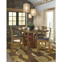Ralene  RECT DRM Counter EXT Table & 4 UPH Bar Stools