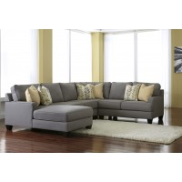 Chamberly - Alloy 4 Pc. LAF Corner Chaise Sectional