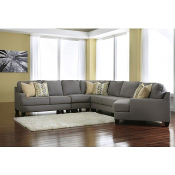 Chamberly - Alloy 5 Pc. LAF Loveseat Sectional