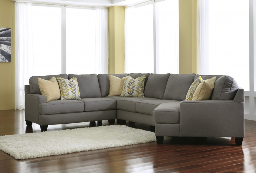Chamberly   Alloy 4 Pc. LAF Loveseat Sectional