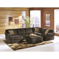 Vista - Chocolate 3 Pc. LAF Chaise Sectional