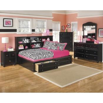 Jaidyn Full Bookcase Bed, Dresser & Mirror