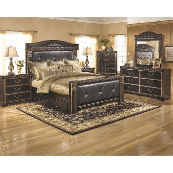 Coal Creek 7 Pc. Bedroom - Dresser, Mirror, Queen Bed with Underbed Storage