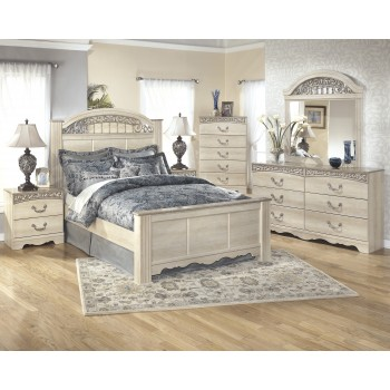 Catalina 5 Pc. Bedroom - Dresser, Mirror & Queen Poster Bed