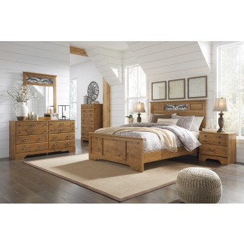 Bittersweet 6 Pc. Bedroom - Dresser, Mirror, Chest & Queen Panel Bed