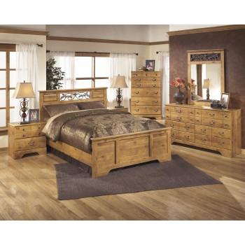Bittersweet 6 Pc. Bedroom - Dresser, Mirror, Chest & Queen Panel Bed