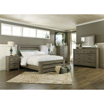 Zelen 5 Pc. Bedroom - Dresser, Mirror & Queen Poster Bed