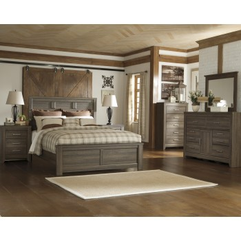 Juararo 5 Pc. Bedroom - Dresser, Mirror & Queen Panel Bed