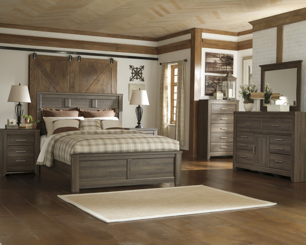 Juararo 5 Pc. Bedroom - Dresser, Mirror & Queen Panel Bed | B251/31 ...