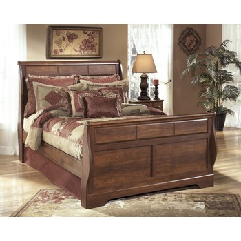 Timberline Queen Sleigh Bed with Storage
