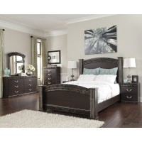 Vachel 6 Pc. Bedroom - Dresser, Mirror, Queen Poster Bed