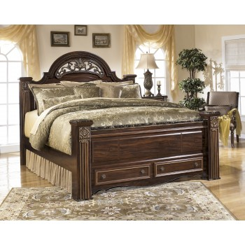 Gabriela Queen Poster Bed with Storage