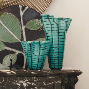 Ripple Vase-Blue-Med