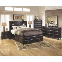 Kira 5 Pc. Bedroom - Dresser, Mirror & Queen Bed with Storage