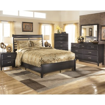 Kira 5 Pc. Bedroom - Dresser, Mirror & Queen Panel Bed