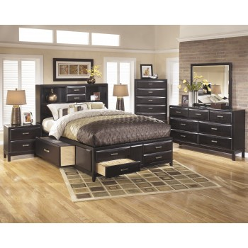 Kira 5 Pc. Bedroom - Queen Storage Bed & 2 Nightstands