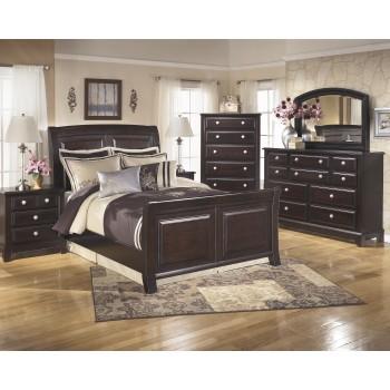Ridgley 5 Pc. Bedroom - Dresser, Mirror & Queen Sleigh Bed