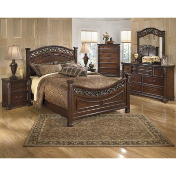Leahlyn 5 Pc. Bedroom - Dresser, Mirror & Queen Panel Bed