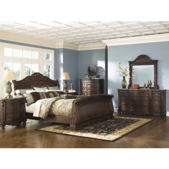 North Shore 5 Pc.  - Dresser, Mirror & Queen Sleigh Bed