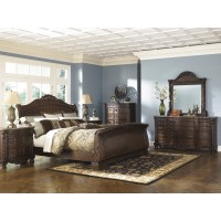 North Shore 5 Pc.  - Dresser, Mirror & Queen Sleigh Bed
