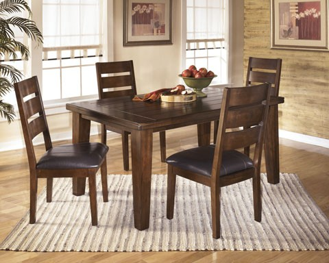 Larchmont 5 Pc. Dining - Rectangular Dining Room Table & 4 UPH Side Chairs