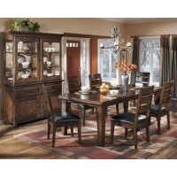 Larchmont 7 Pc Dining - Rectangular Dining Room Extension Table & 6 UPH Side Chairs