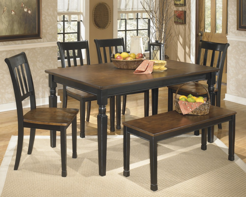Owingsville Table, 4 Side Chairs & Bench | D580/00/02(4)/25 | Dining ...