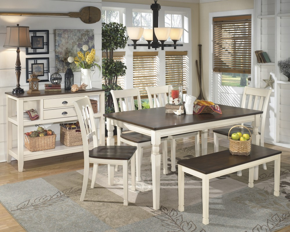Whitesburg Table 4 Side Chairs Bench D583 00 02 4 25 Dining