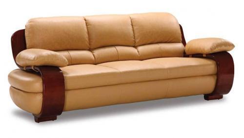 Curvaceous Tan Sofa